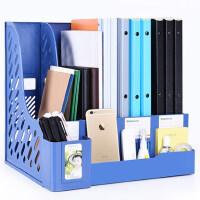 书立架框子多层四栏筐办公用品文件架简易桌上资料夹收纳盒学生用