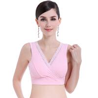 孕妇内衣背心式怀孕期舒适棉无钢圈薄款睡眠胸罩交叉哺乳文胸夏