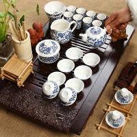 尚帝 整套紫砂茶具套装 实木茶盘 电磁炉套装 陶瓷茶具紫砂套装2014WHTZ44K