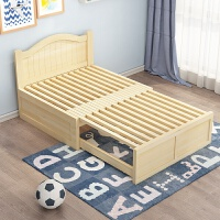 简约小户型实木沙发床两用可折叠多功能双人加宽床卧室伸缩单人床 150宽有靠背 无抽屉 原木 1.5米以下