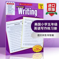 华研原版 美国小学五年级英语写作练习册 英文原版 进口学乐英语教材 Scholastic Success with W
