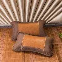 伊迪梦家纺 原藤席枕套夏季天然床上防滑成人单个加厚夏天凉席枕头套 an012
