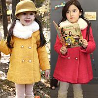 女童毛呢外套韩版儿童中长款呢子大衣冬装2018新款B954 A直