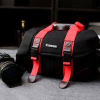 佳能相机包单反 70d 6d 80d 60d 700d 750d 5D3 单肩斜挎摄影包 红色