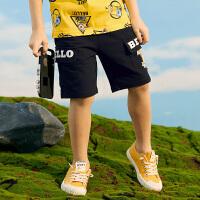 【3件3折到手价:63】小猪班纳童装男童裤子夏季新款儿童五分裤卡通短裤