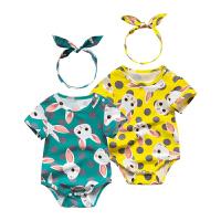 婴儿连体衣服新生儿春季装00岁7月季休闲爬哈服内衣新年