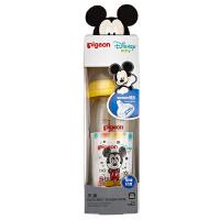 贝亲Disney宽口径玻璃奶瓶240ml配L奶嘴(米奇宝宝Pigeon时尚)