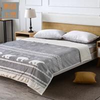 吸湿发热双层被头毯 法兰绒毛毯子加厚冬季盖毯定制