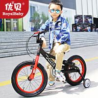 优贝新款16寸18寸时尚推土机儿童自行车男孩5-9岁宝宝可骑