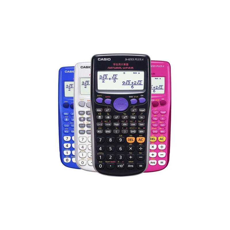 卡西欧科学函数计算器fx-82es plus a中小学学生中高考初高中大学考试用中级会计注会多功能可爱电子计算机