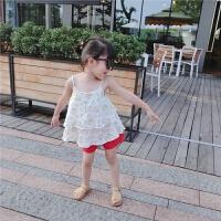 女童纯棉吊带背心婴幼儿宝宝碎花上衣2017夏装新款童装薄款