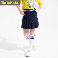 巴拉巴拉童装女童短裙女中大童裙子2016秋装新款儿童学院风半身裙
