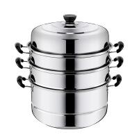 不锈钢蒸锅1二2层三3四4层加厚蒸笼蒸格汤锅双层煤气电磁炉蒸锅具蒸笼