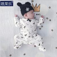 婴儿连体衣服宝宝新生儿衣服冬季0岁3个月棉长袖宝宝春装6