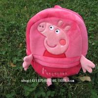社会人小猪佩佩猪毛绒书包幼儿园儿童书包PU双肩包单肩挎包订制