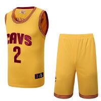 骑士队23号詹姆斯 骑士队2号欧文训练队服 篮球服套装 新面料男士球衣 球裤