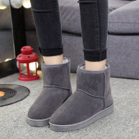 韩版百搭学生保暖棉鞋雪地靴女冬季加绒加厚女靴短筒短靴