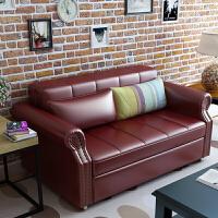 小户型美式储物真皮沙发床1.5/1.2/1.8米双人多功能可叠欧式 1.5米-1.8米
