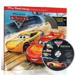 原版英文绘本 Cars 3 Read-Along Storybook with CD 迪士尼赛车汽车总动员3一起读故事