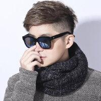 脖套男保暖韩版百搭时尚潮流年轻人毛线围脖学生情侣针织围巾