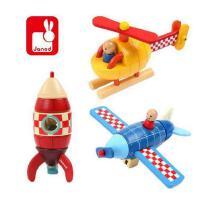 木制拆装 飞机火箭直升机模型 儿童磁性拆装玩具