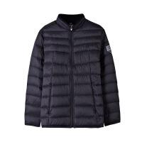 【59减20】361轻薄羽绒服男2019冬季中长款立领保暖棉服黑色时尚运动外套男