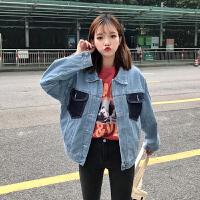 牛仔外套春季女2018新款韩版bf宽松夹克牛仔衣外套女ulzzang学生