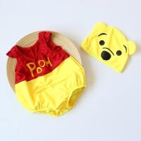 韩国宝宝婴儿蜘蛛侠泳衣连体女童男童泳装可爱卡通蝙蝠侠游泳衣