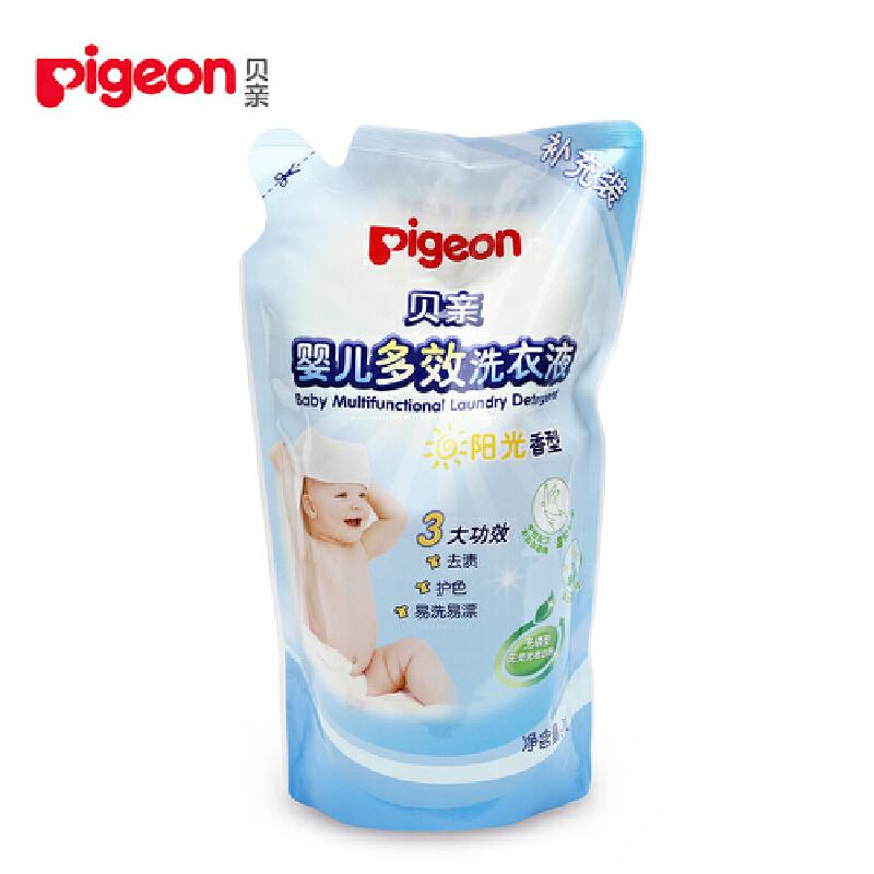 贝亲Pigeon婴儿多效洗衣液(阳光香型)1L 补充装贝亲 正品保证 超值优惠 欢迎选购