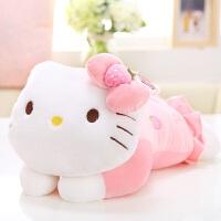 公仔KT猫布娃娃哈喽凯蒂猫公仔毛绒玩具布玩偶抱枕