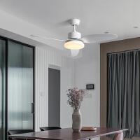 灯具餐厅风扇灯卧室家用客厅北欧灯具简约现代带电风扇吊灯