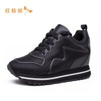 红蜻蜓女鞋秋冬新款舒适百搭牛皮革休闲鞋韩版运动鞋单鞋