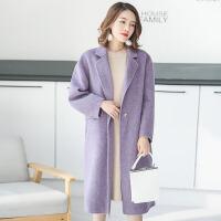 双面羊绒大衣女中长款2018新款羊毛呢子大衣秋冬毛呢外套