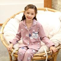 儿童睡衣长袖女童春秋季宝宝小孩公主亲子母女家居服套装秋冬