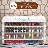 欧式鞋柜鞋架简易家用多层经济型实木收纳防尘置物架门口小鞋架子