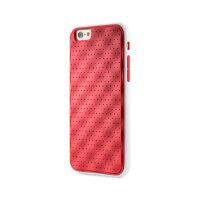 果铺 Bone 苹果 iPhone6/6S 手机壳保护套4.7寸创意边框两用硅胶防摔(红色内框红底+白色PC框)