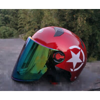 摩托车头盔男女士电动车夏季半覆式轻便防晒帽遮阳帽 均码