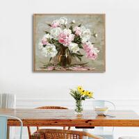 diy数字油画 小清新客厅装饰画餐厅壁画现代卧室床头画水墨挂画GX3998