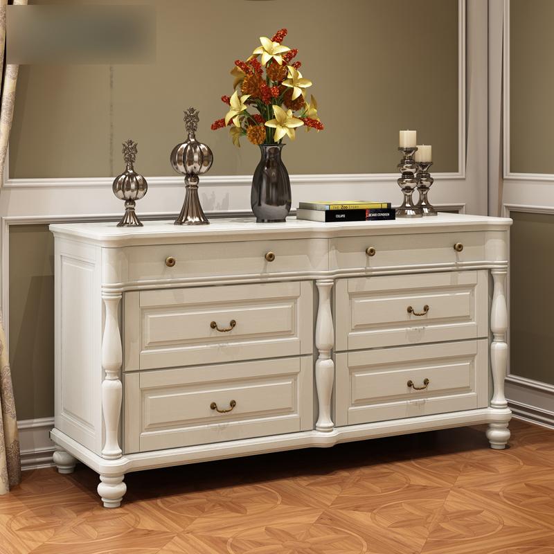 美式全实木斗柜组合 欧式三斗柜四斗柜 储物柜 抽屉柜