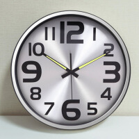 现代简约金属挂钟客厅卧室个性创意钟表壁钟静音夜光时钟
