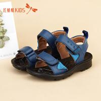 红蜻蜓童鞋韩版软底露趾低跟沙滩鞋男童儿童凉鞋511L6D2099T