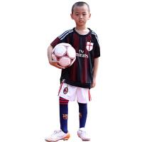 AC米兰主场儿童足球服 训练红黑条纹 红黑军团舍普琴科 3号马尔蒂尼足球短袖球衣训练套装