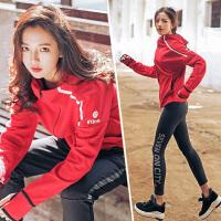 韩版秋冬运动套装女瑜伽服修身时尚休闲新款显瘦户外跑步套装