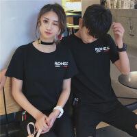 棉短袖T恤女情侣装夏装2018新款韩版学生宽松百搭班服潮