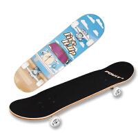 专业四轮滑板 9层中国枫双翘板刷街儿童公路滑板男女
