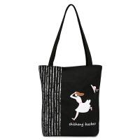 帆布包女包韩版小清新单肩包学生书包手提袋文艺帆布袋环保购物包