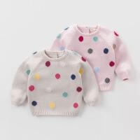 davebella戴维贝拉秋冬季女童套头毛衣 宝宝婴儿针织衫DB4218