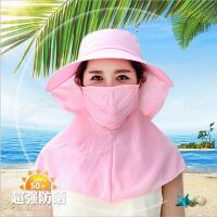 帽子夏天女士休闲遮阳帽户外出游大檐帽骑车沙滩防晒太阳帽