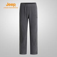 【特惠价】Jeep/吉普 男士抓绒裤防风保暖登山滑雪抓绒裤J662021351