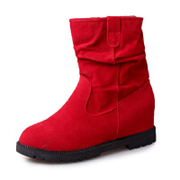 ELEISE美国艾蕾莎新品168-7-52韩版磨砂绒面平底女士短靴